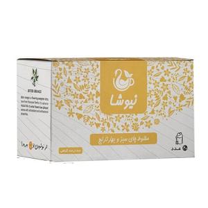 فواید مزایا قیمت و خرید دمنوش مخلوط چای سبز و بهارنارنج نیوشا کیسه ای 20عددی