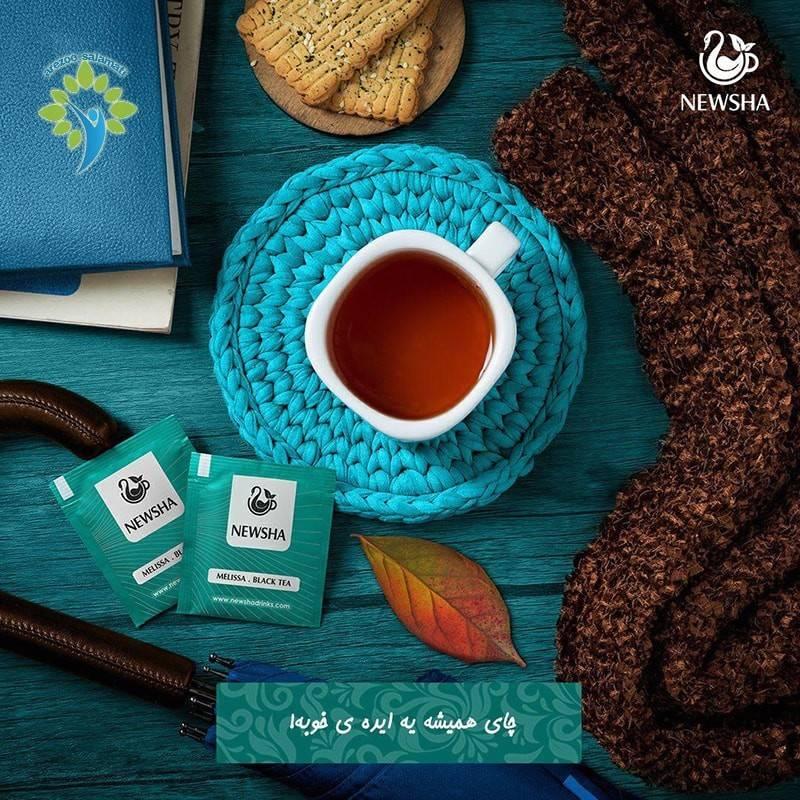 خواص چای سیاه + بادرنجبویه نیوشا