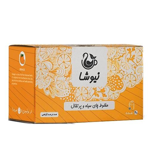 چای پرتقال نیوشا %%sep%% خرید اینترنتی تک به قیمت عمده دمنوش چای سیاه و پرتقال کیسه ای نیوشا نیک