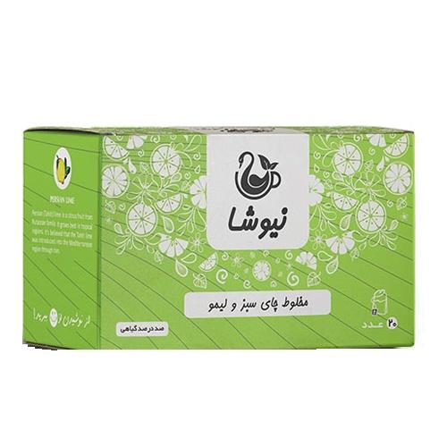 چای سبز و لیمو نیوشا %%sep%% خرید اینترنتی تک به قیمت عمده دمنوش مخلوط چای سبز و لیمو نیوشا نیک