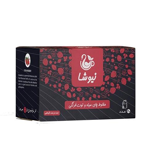 چای توت فرنگی نیوشا %%sep%% خرید تک به قیمت عمده دمنوش مخلوط چای سیاه و توت فرنگی نیوشا