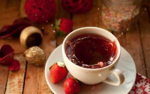 چای توت فرنگی کیسه ای نیوشا