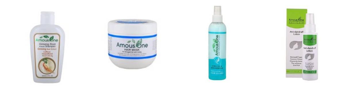 انواع محصولات شامپو و مراقبت از مو آموس وان