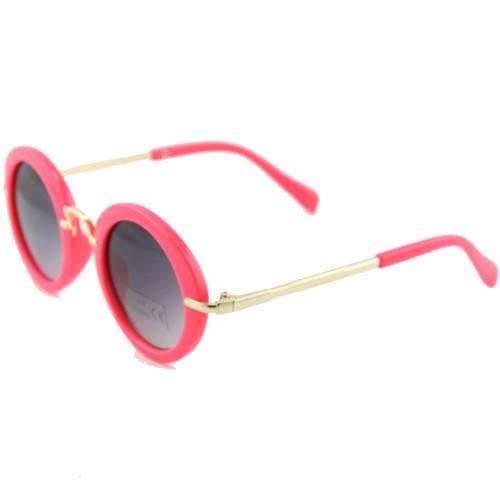 عینک آفتابی فریم گرد دسته استیل کودک