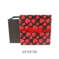 جعبه هدیه مکعب طرح قلب کد 009(نهایی)
