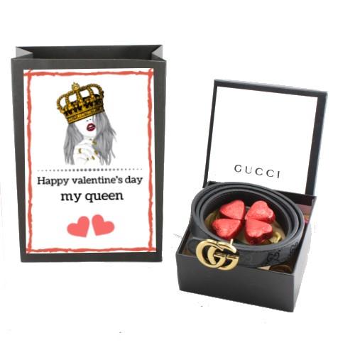 پک هدیه ولنتاین دخترانه گوچی gucci مدل طلایی