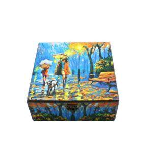 جعبه چوبی پتینه