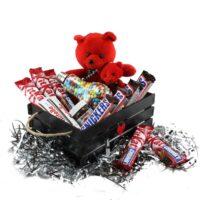 پک ویژه ولنتاین باکس شکلات و خرس یه هدیه جذاب ، خاص و خوشمزه