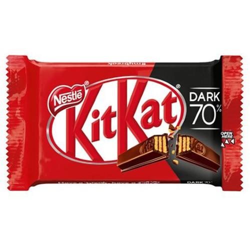 مشخصات قیمت و خرید شکلات تلخ کیت کت دارک kit kat dark 70% چهار انگشتی