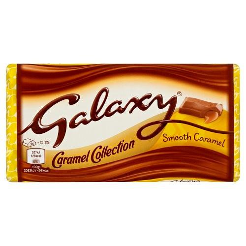 مشخصات ، قیمت روز و خرید اینترنتی شکلات تابلت کاراملی گلکسی 135 گرمی مناسب گیاهخواران