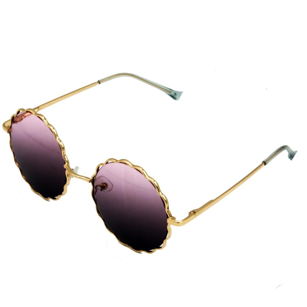 عینک آفتابی بچه گانه گرد عدسی بادمجانی (2)