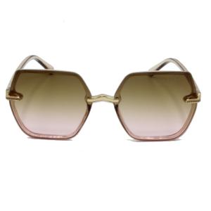 خرید اینترنتی عینک روز و شب زنانهگوچی با فریم پلاستیکی شیشه ای شفاف قهوه ای کد 014