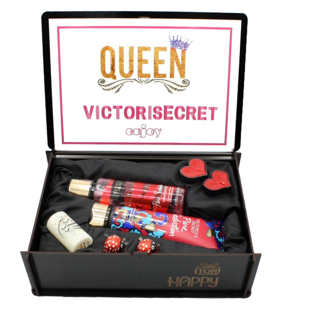 هدیه زنانه پک بهداشتی ویکتوریا سکرت 2 تکه pure seduction