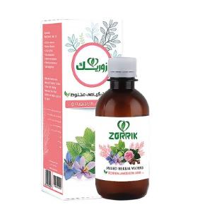 شربت گیاهی تقویت قلب زوریک %%sep%% خرید تک به قیمت عمده عرق زعفران گل محمدی زوریک