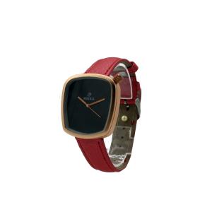 مشخصات ، خرید اینترنتی تک به قیمت عمده ساعت مچی زنانه ( دخترانه ) میکا meika با بند چرم ، ساعت مچی عقربه ای ارزان با کیفیت شیک و کلاسیک بند چرم صورتی کد 004
