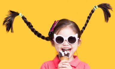 عینک کودک بنر