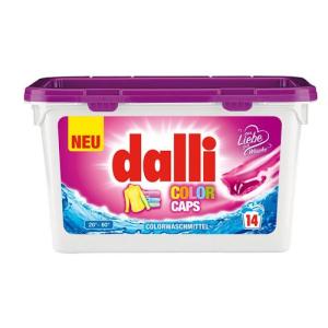مشخصات ، معرفی ، نحوه مصرف ، قیمت و خرید اینترنتی کپسول مایع ماشین لباسشویی فوق قوی دالی dalli آلمان اورجینال و اصل مخصوص لباسهای رنگی