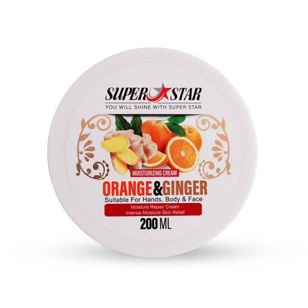 کرم مرطوب کننده پرتقال و زنجبیل سوپر استار کاسه ای 200 میل (3)