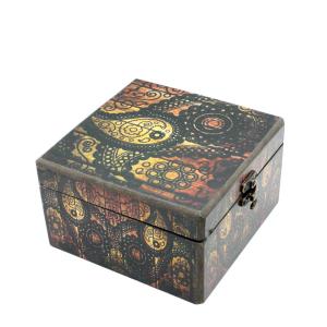 معرفی ، پیشنهاد ، ایده ، قیمت و خرید اینترنتی پک ( باکس ) هدیه ( کادو ) بسته ست پذیرایی کادویی دمنوش گیاهی 4 تایی فله با جعبه چوبی رنگی طرح بته جقه