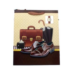 ساک هدیه مردانه 3 بعدی طرح ساعت کیف و کفش