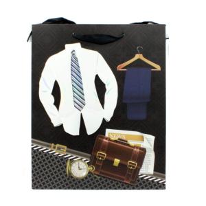 ساک هدیه مردانه 3 بعدی طرح پیراهن و پاپیون