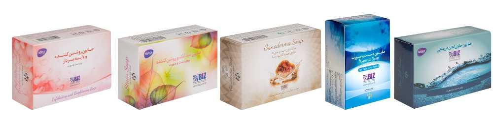 مشخصات صابون های تخصصی  شرکت دکتر بیز