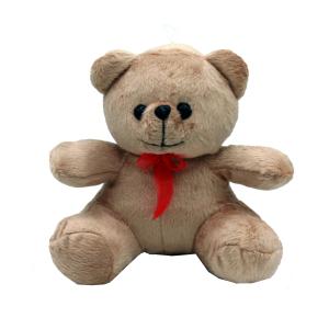 عروسک خرس تدی قهوه ای پسرانه مدل نشسته 35 سانتی