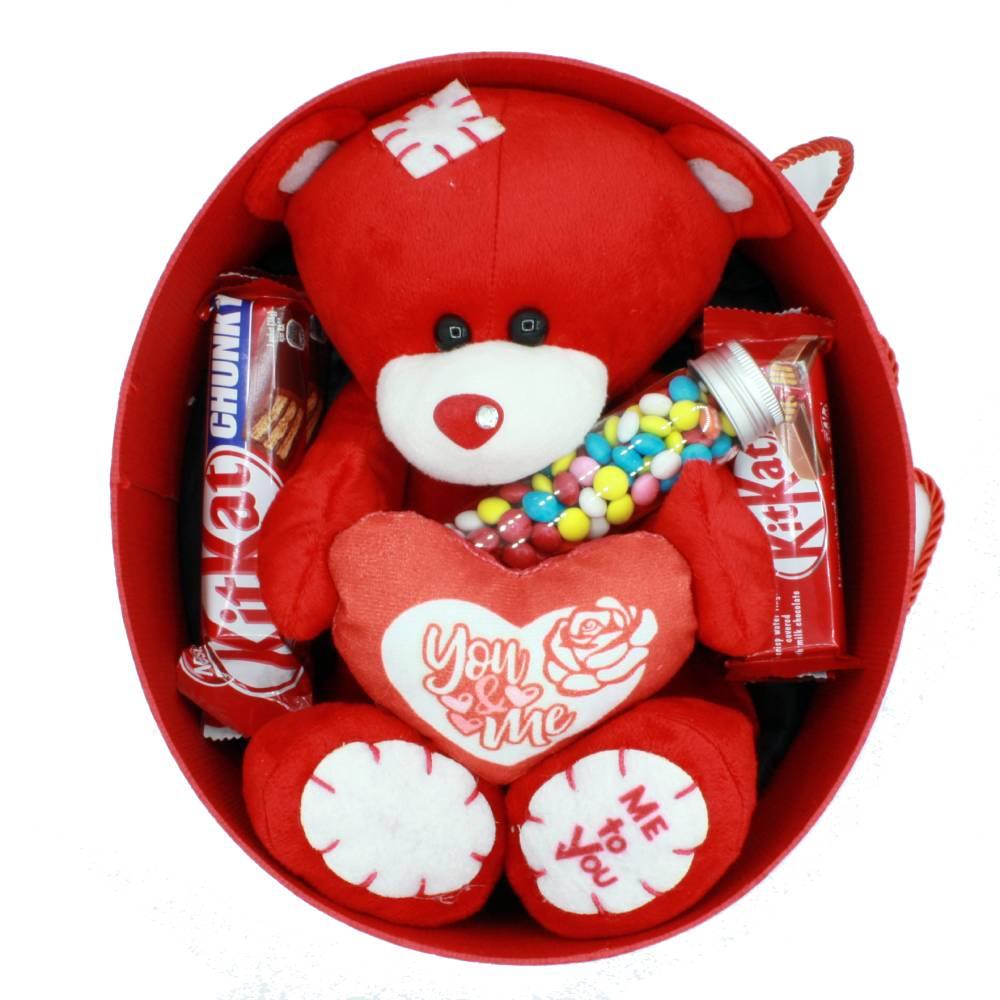 مشخصات هدیه ولنتاین پک عاشقانه خرس مهربان قرمز 9 تکه