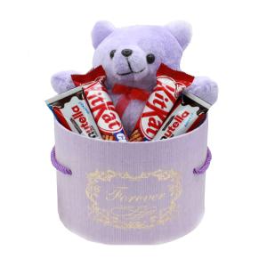 هدیه دخترانه ولنتاین خرس تدی + شکلات کد4