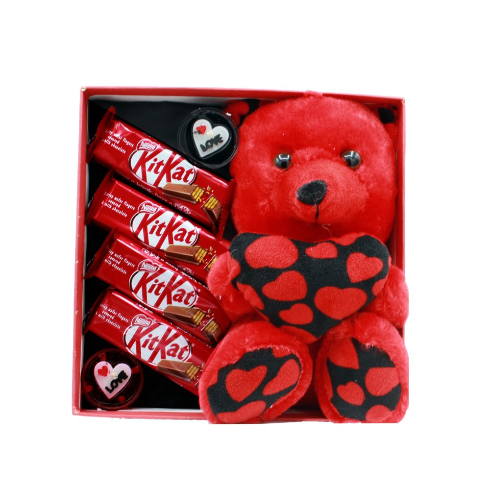 هدیه ولنتاین پک عاشقانه طرح خرس عشق 8قلم