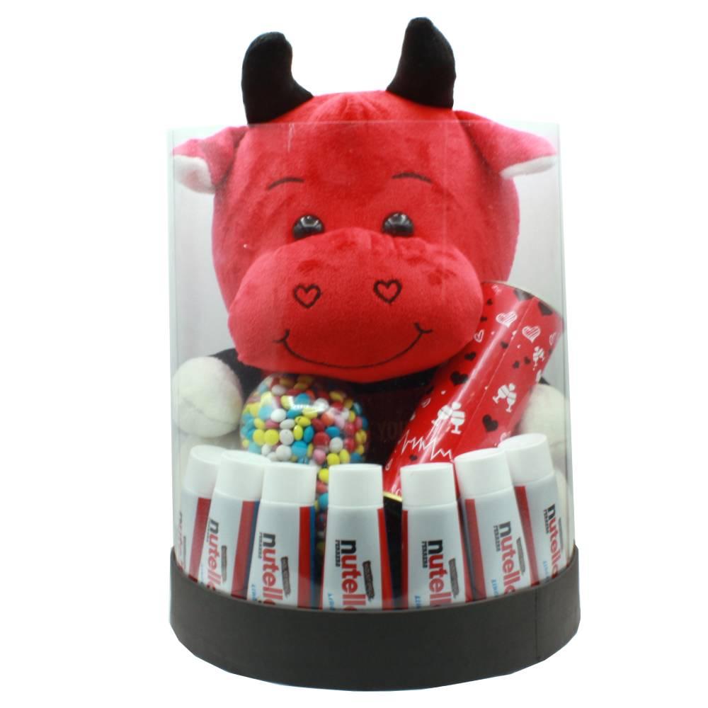 هدیه ولنتاین پک عروسک گاو بزرگ + نوتلا کد 20