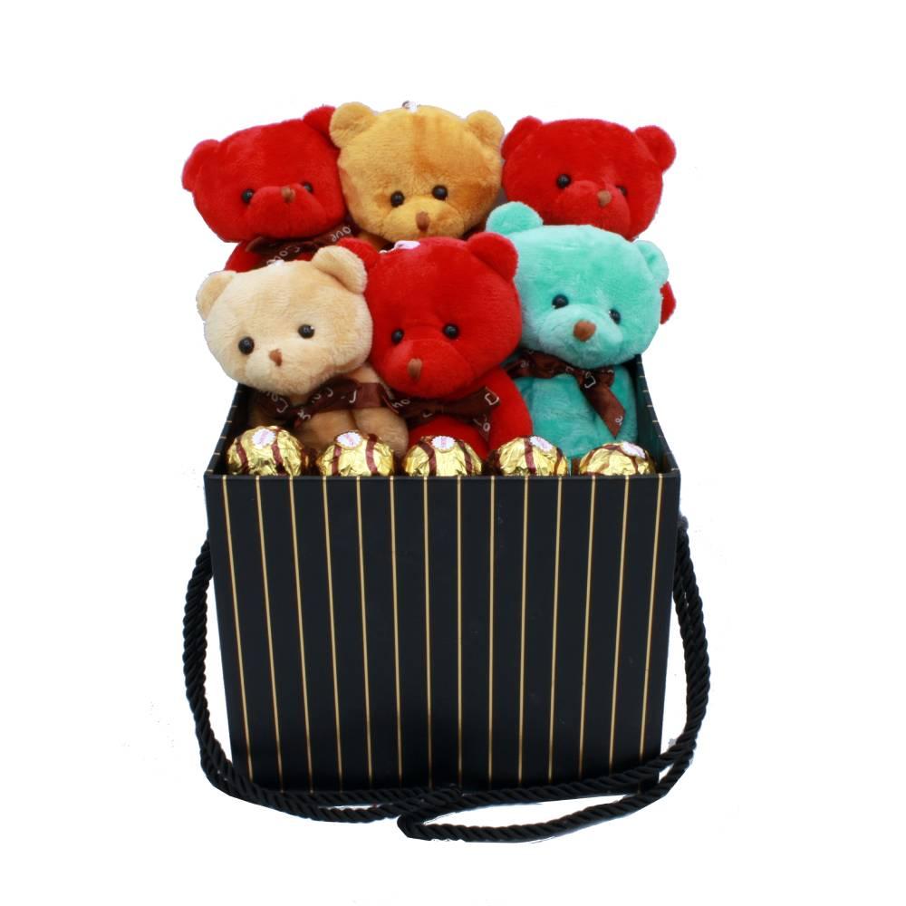 هدیه ولنتاین پک پسرانه و دخترانه خرس عشق 12 قلم (2)
