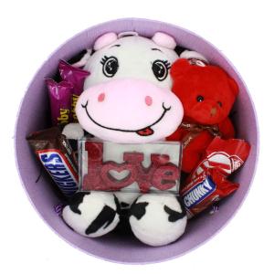پک هدیه ولنتاین 99 عروسک گاو مدل خندان
